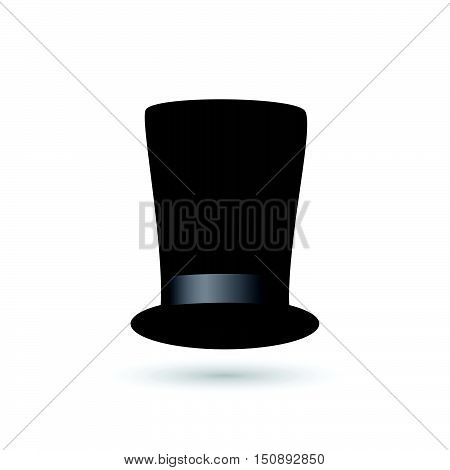 Illustration of a formal tophat isolated on a white background.
