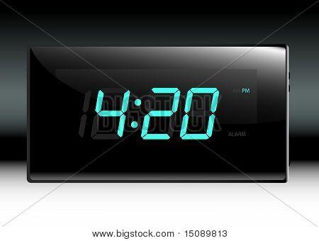 Stylish Digital Clock Vector