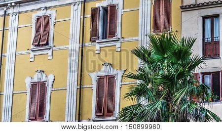 an elegant building in Sardinia in Italy
