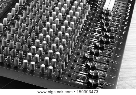 Live Sound Mixers and music studio console, control,