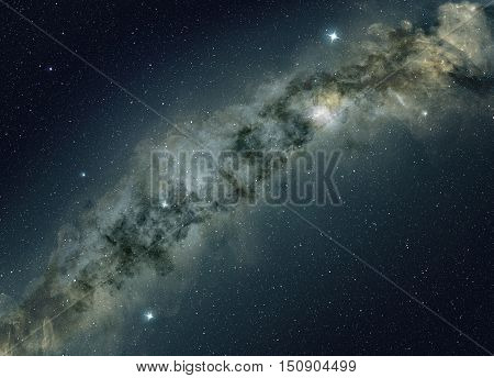 star field of the milky way night sky background