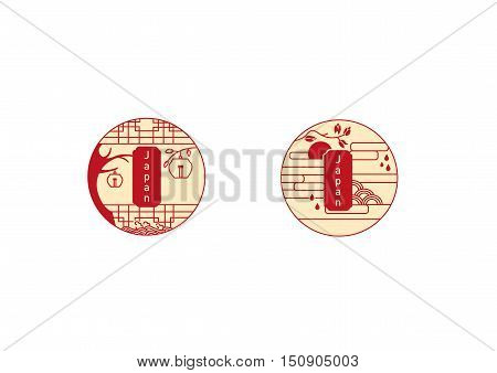 japan, asian, icon, design, element, symbol, vector, chopsticks, set, bamboo, oriental, art, pagoda, asia, gate, arch, rice, plate, leaf, abstract, tree, red, sun, pine, isolated, floral, white, culture, circle, restaurant, east, traditional, illustration