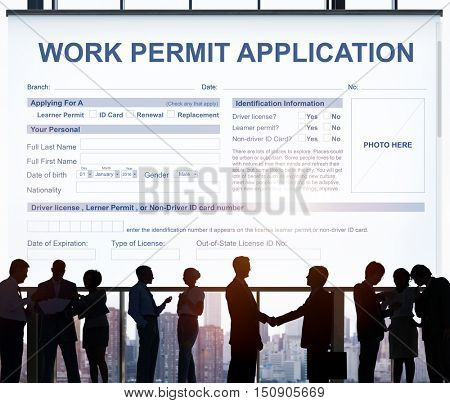 Work Permit Application Job Employment Concept