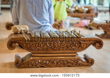 Type of Saron, a gamelan music instrument. Gamelan is traditional music in Bali and Java, Indonesia.