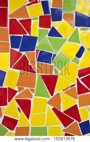 Broken Mosaic Tile Colorful Decoration Ornament - Background Gaudì