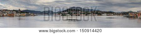 Panorama of the city of Kristiansund, Fjordland, Norway