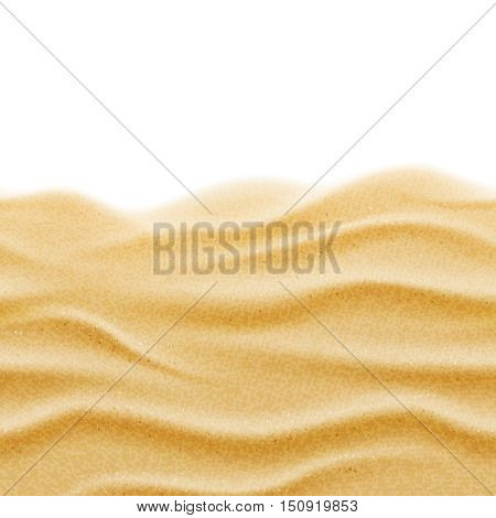Beach sand seamless vector texture background. Natural sand wave illustration