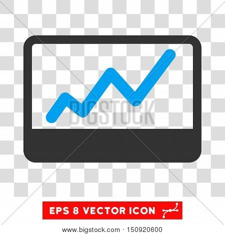 Vector Stock Market EPS vector icon. Illustration style is flat iconic bicolor blue and gray symbol on a transparent background.