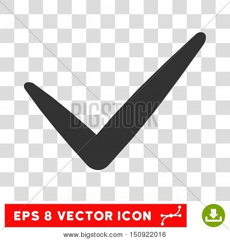 Vector Valid EPS vector pictogram. Illustration style is flat iconic gray symbol on a transparent background.