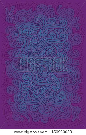 Vector illustration hippie background in retro style