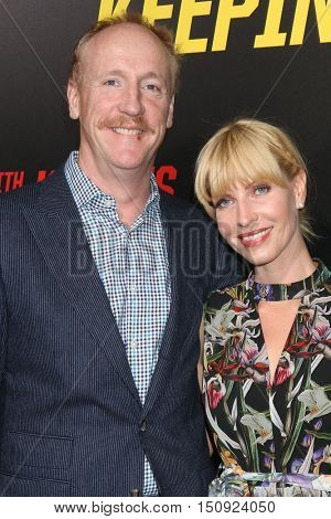 LOS ANGELES - OCT 8:  Matt Walsh, Morgan Walsh at the