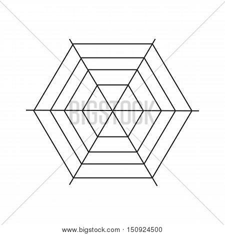 Spiderweb icon. Simple illustration of spiderweb vector icon for web
