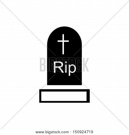 Tombstone icon. Simple illustration of tombstone vector icon for web