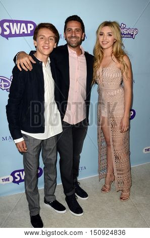 LOS ANGELES - OCT 5:  Jacob Bertrand, Jay Karas, Peyton List at the