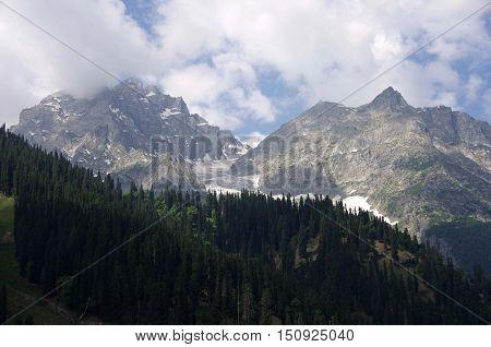 Landscape in Sonamarg in Kashmir, in India