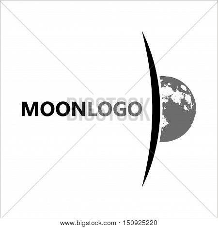 Moon logo design. Creative moon logo. Night logo. Full moon.