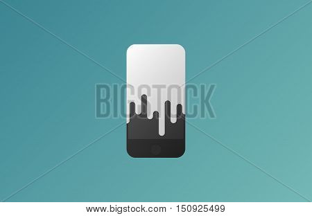 Mobile phone shop Logo design vector template. Smart phone, Global, Social, E-reading Education logotype. On-line store. Application icon concept. Creative phone logo design