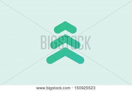 Abstract logo. Minimalistic logo design. Creative logo. Beautiful and simple element. Pine logo. Tree logo