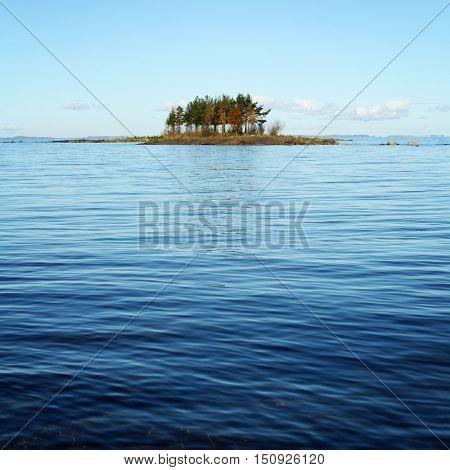Small Island In Ladoga Lake Near Valaam, Kareliya.