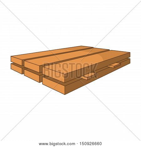 Wood boards icon. Cartoon illustration of boards vector icon for web design