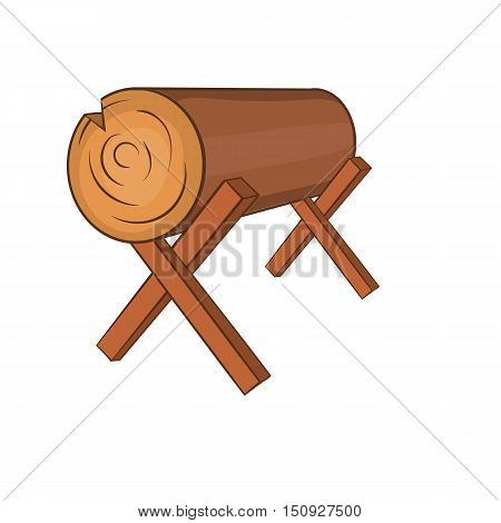 Log stand icon. Cartoon illustration of log vector icon for web design
