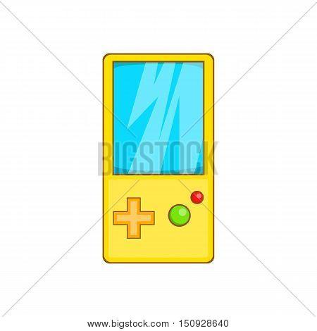 Pocket tetris icon. Cartoon illustration of tetris vector icon for web design