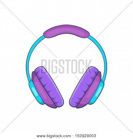 Headphone icon. Cartoon illustration of headphone vector icon for web design
