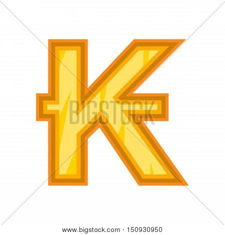 Lao kip icon. Cartoon illustration of kip vector icon for web design