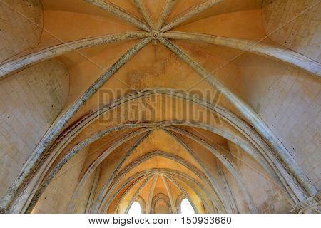 Saint Martin de Boscherville France - june 22 2016 : chapter house of the Saint Georges abbey