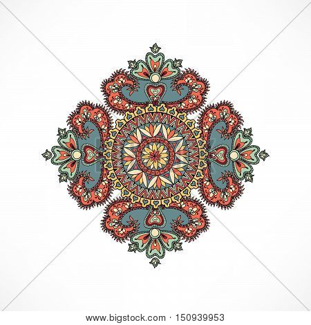 Arabic ornament background Oriental ethnic mandala amulet Abstract floral geometric pattern Geometric circle element for holiday kaleidoscope medallion yoga indian arabic design