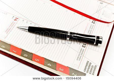 Pen On Personal Organizer