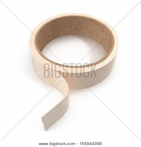 Masking tape, adhesive tape used in painting to cover areas on which paint is not wanted. 3D illustration