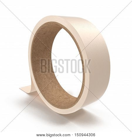 Large roll of masking or duct tape, isolated on white background. 3D illustration