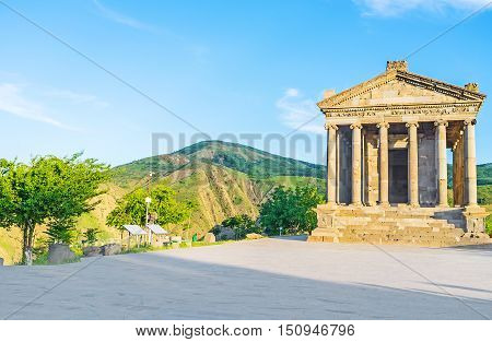 The Garni Temple is the notable and one of the most visited landmarks of Armenia.