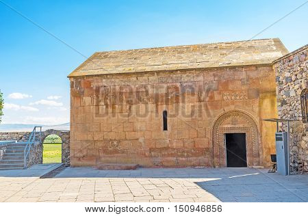 The St Gevorg Church of Khor Virap Monastery was built above the pit where was imprisoned St Gregory the Illuminator Ararat Province Armenia.