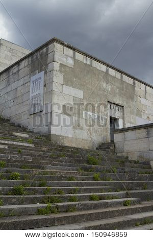 Nuremberg, Germany - Aug 22, 2016:  Ruins Of The Zeppelin Field, Where From 1933 Former Nazi Nationa
