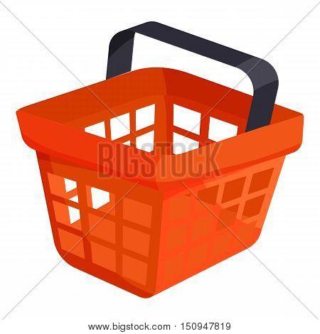 Shopping basket icon. Cartoon illustration of shopping basket vector icon for web.