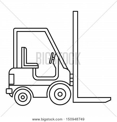 Electric loader icon. Outline illustration of electric loader vector icon for web.