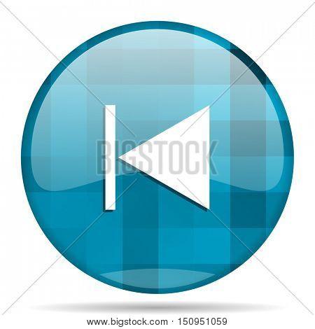 prev blue round modern design internet icon on white background