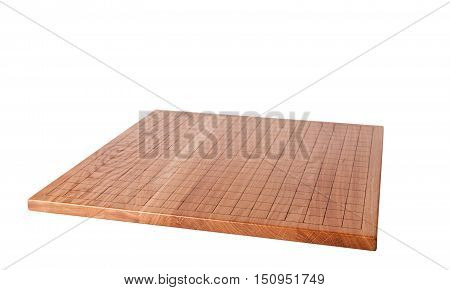 Empty wooden desk for traditional chinese boardgame wei-chi or