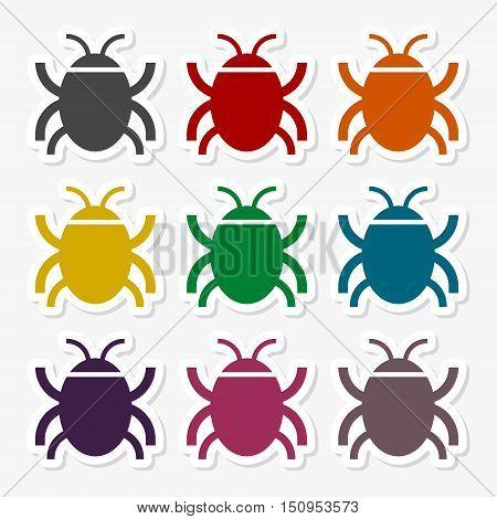 Software bug or program bug sticker set
