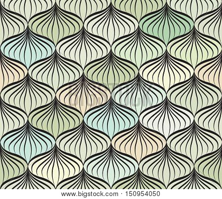 Abstact Vector Seamless Pattern  Floral Oriental Geometric Line Texture  Stylish Abstract Ornamental