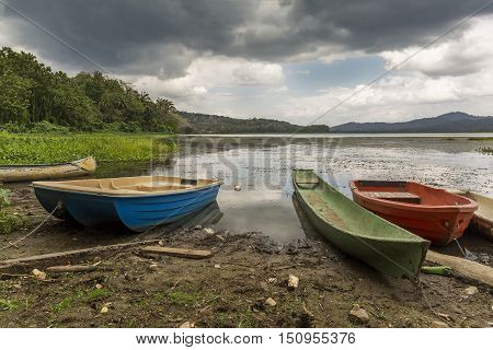 Dugout Canoe And Other Boats At River's Edge - Gamboa, Panama