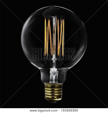 vintage electric lamp light bulb retro, classic