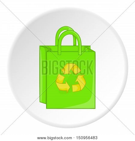 Package recycling icon. Cartoon illustration of package recycling vector icon for web