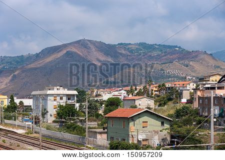 View of Campora San Giovanni town in Calabria Italy