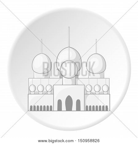 Mosque in UAE icon. Cartoon illustration of mosque in UAE vector icon for web