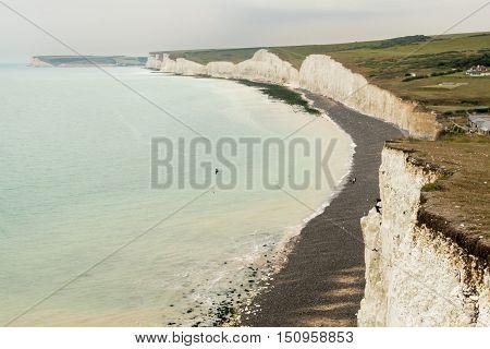 Seven Sisters coastline at Birling Gap near Eastbourne East Sussex poster