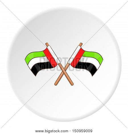 UAE flag icon. Cartoon illustration of UAE flag vector icon for web