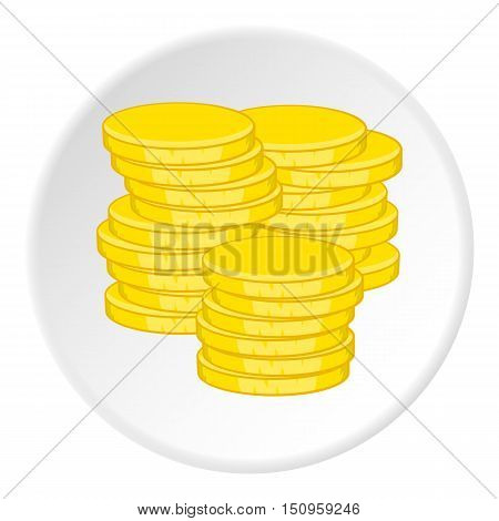 Gold coins icon. Cartoon illustration of gold coins vector icon for web